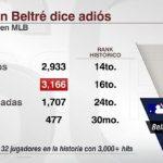 Adrián Beltré se retira de las Grandes Ligas tras 21 temporadas y 3.166 hits
